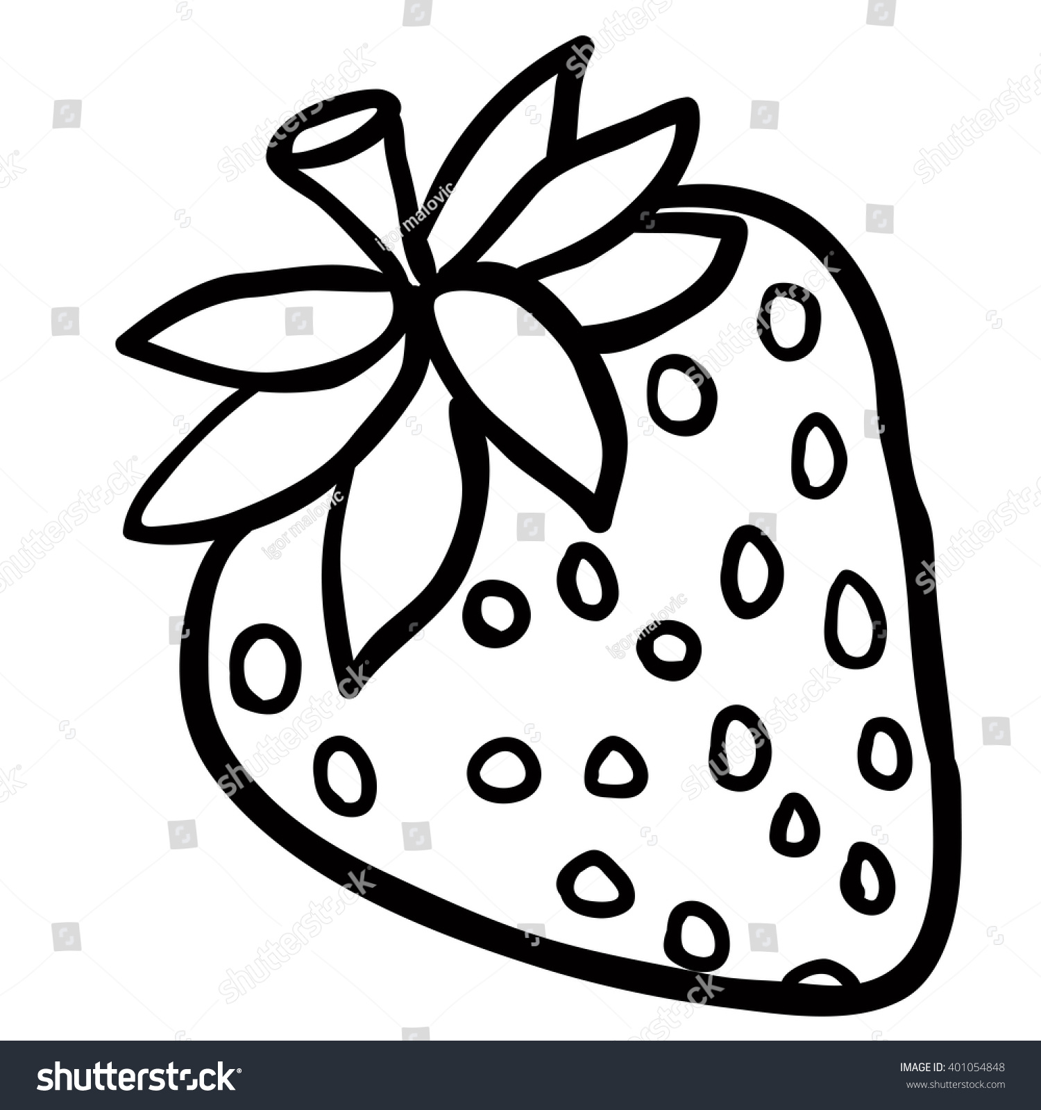 Strawberry black and white clipart 6 » Clipart Station.