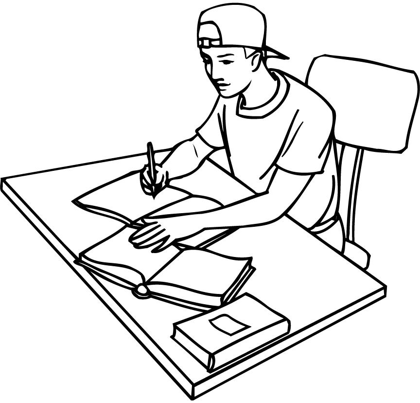 Free Study Clipart Black And White, Download Free Clip Art.