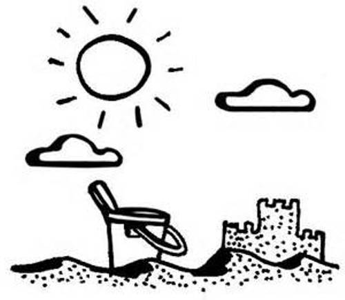 Summer Clip Art Black And White Science Worksheets.