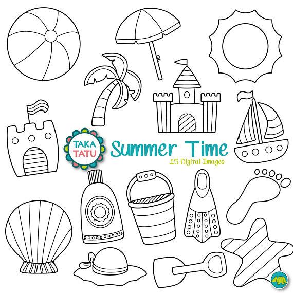 Summer Time Digital Stamp Pack.