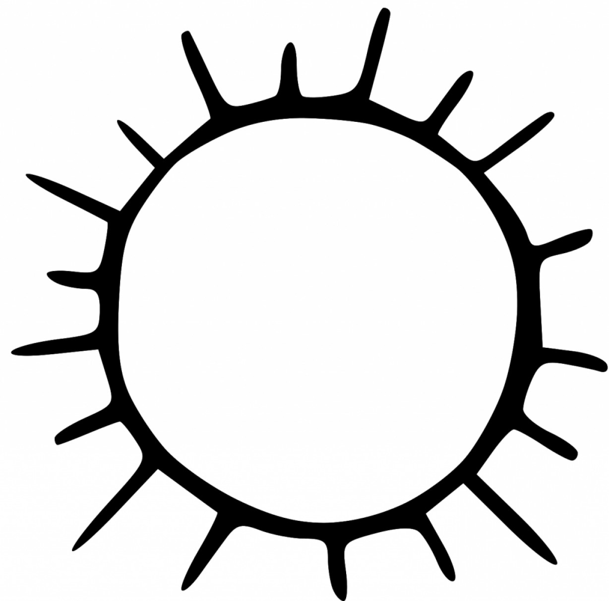 Sun black and white top free clipart sun black and white picture.
