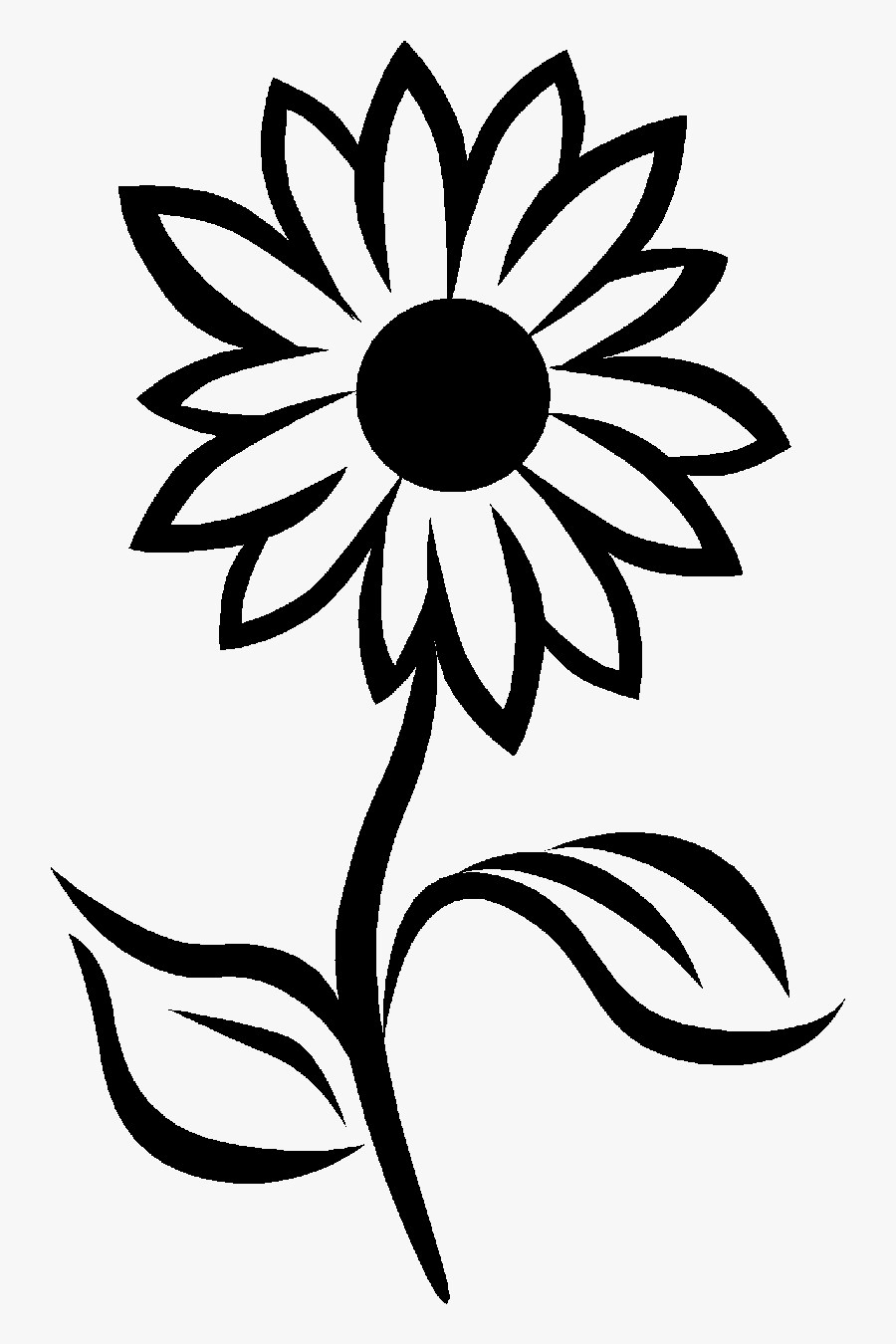 Sun Black And White Clipart Small.