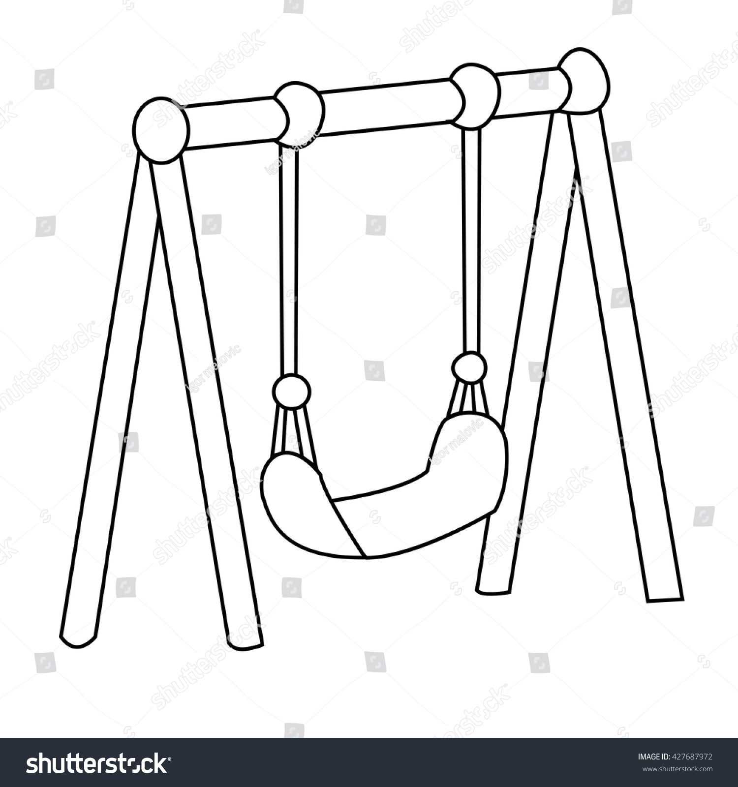 Swing clipart black and white 3 » Clipart Station.