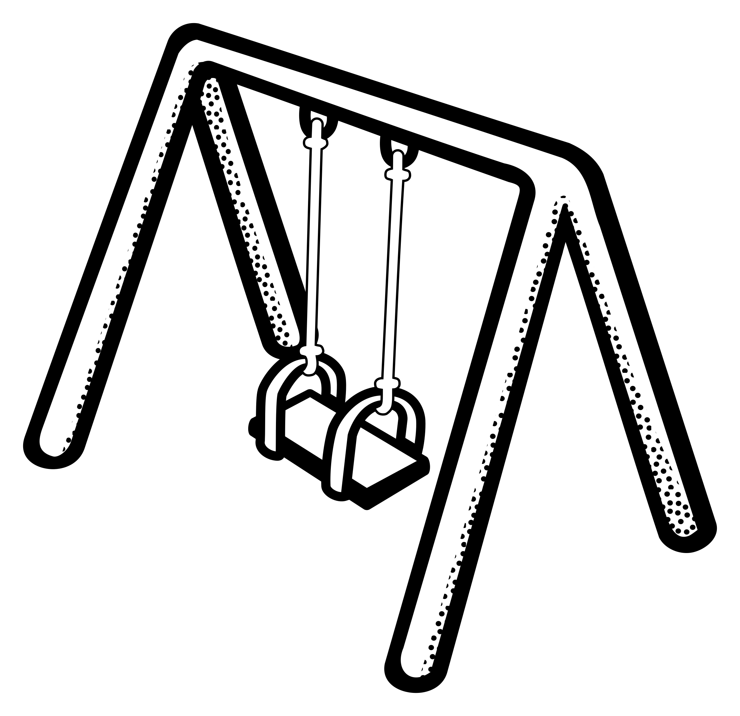 Swing clipart black and white 2 » Clipart Station.