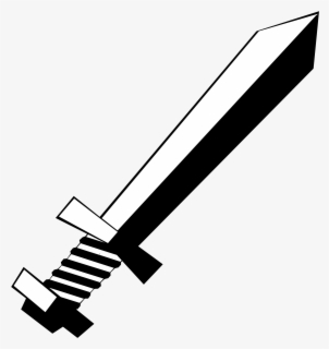 Free Sword Black And White Clip Art with No Background.
