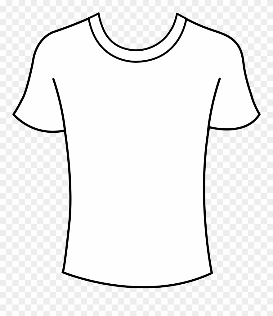 T Shirt Shirt Outline Clip Art Clipart Clipart.