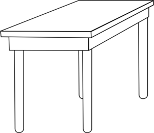 Free Table Clipart Black And White, Download Free Clip Art.