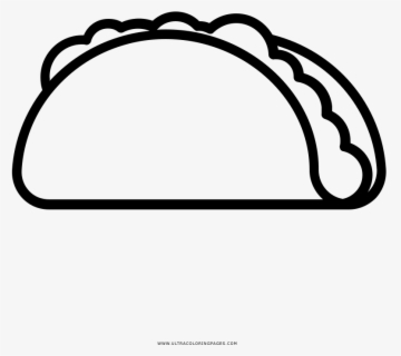 Free Taco Black And White Clip Art with No Background.