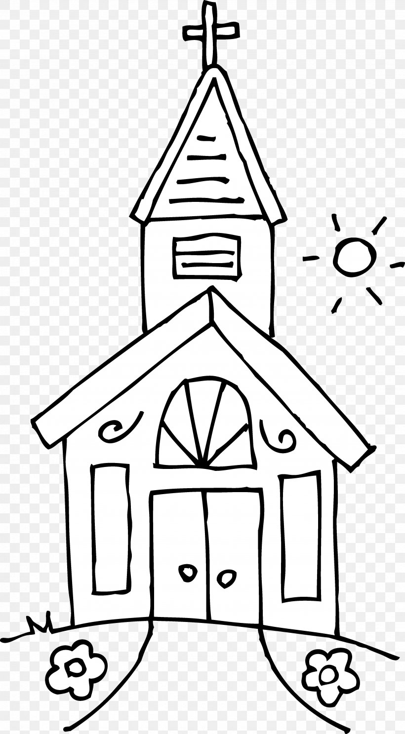 Church Black And White Religion Clip Art, PNG, 3472x6297px.