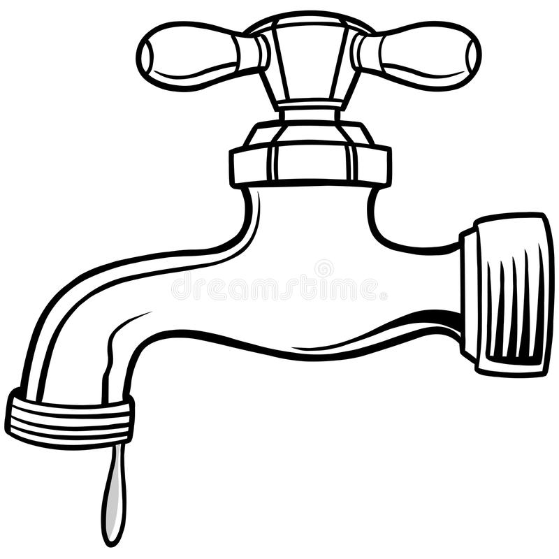 Faucet clipart black and white 2 » Clipart Station.