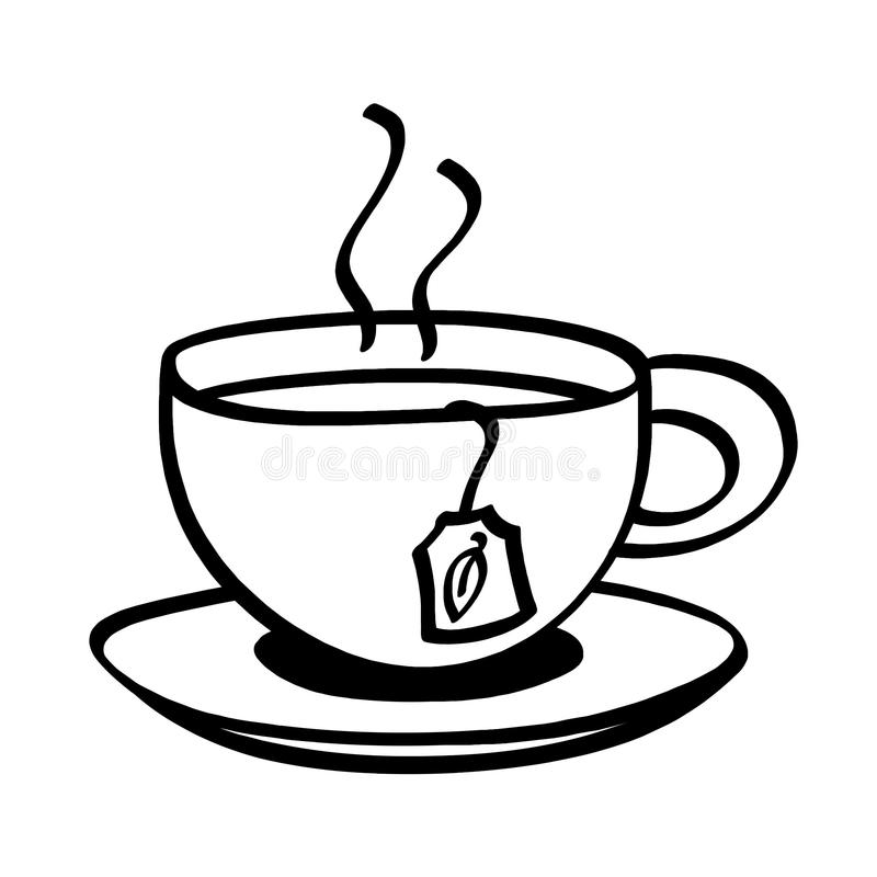 Tea Cup Clipart Black And White.