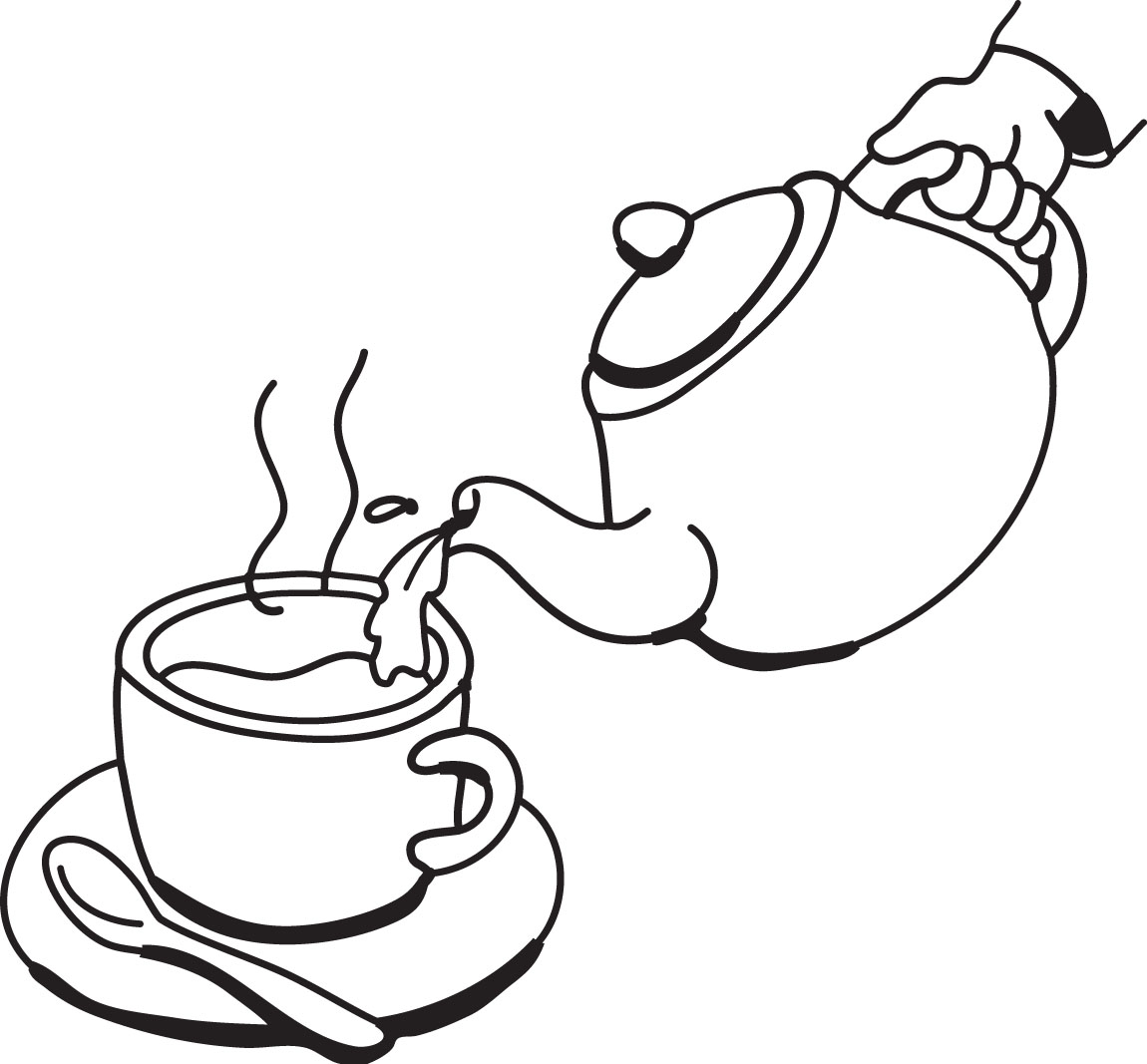 Free Tea Party Clipart Black And White, Download Free Clip.