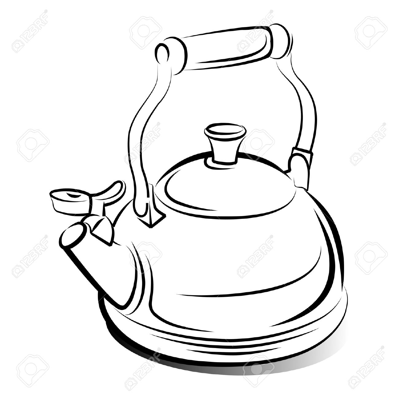 1130 Teapot free clipart.