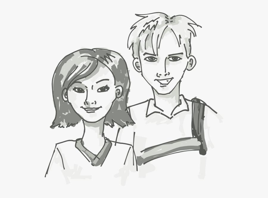 Free Vector Students Standing Cartoon Clip Art.