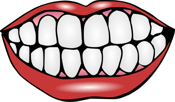 Mouth Clip Art Black And White.