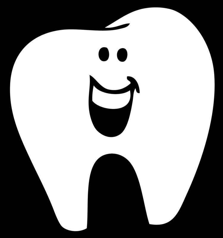 Dental clipart black and white, Dental black and white.
