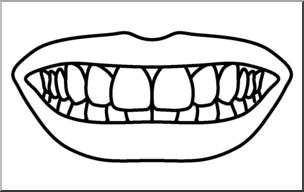 Clip Art: Teeth B&W I abcteach.com.