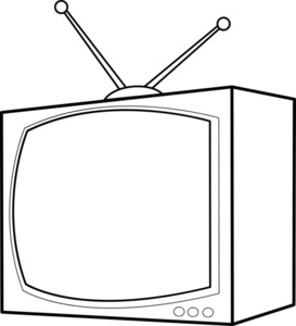 Television Tv Clipart Black And White Free Images 2.