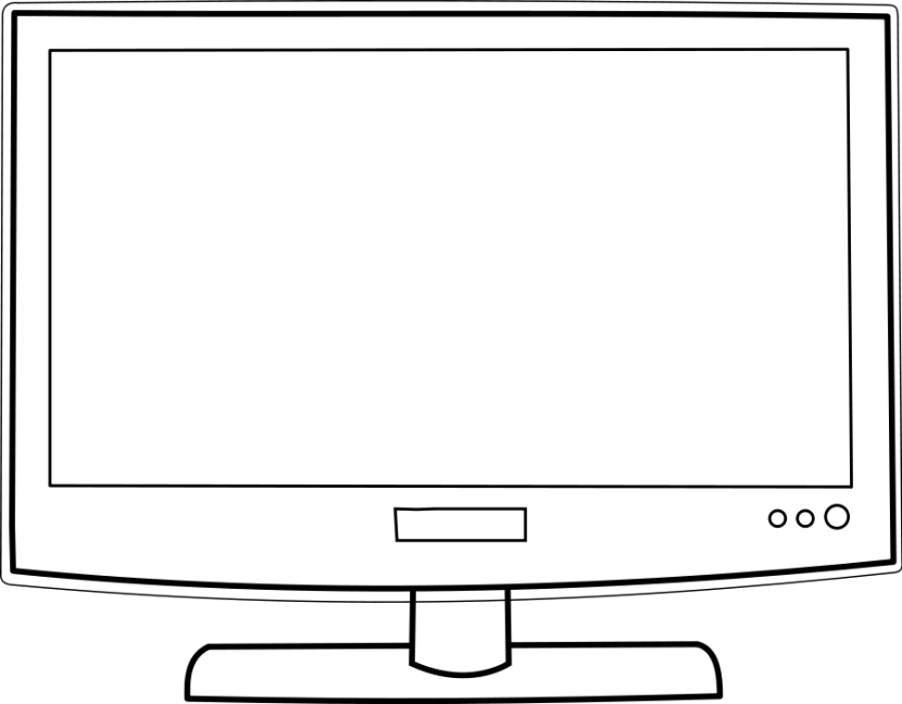 Flat Screen Tv Clipart Black And White.