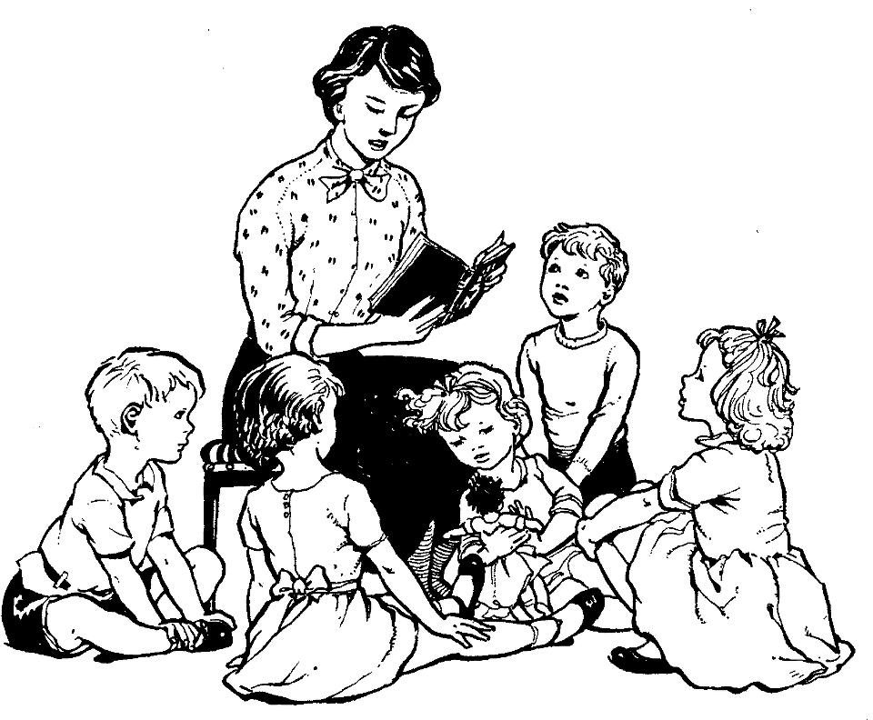 Story Time Clipart Black And White.