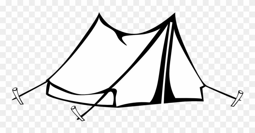 Tent Clipart Black And White.
