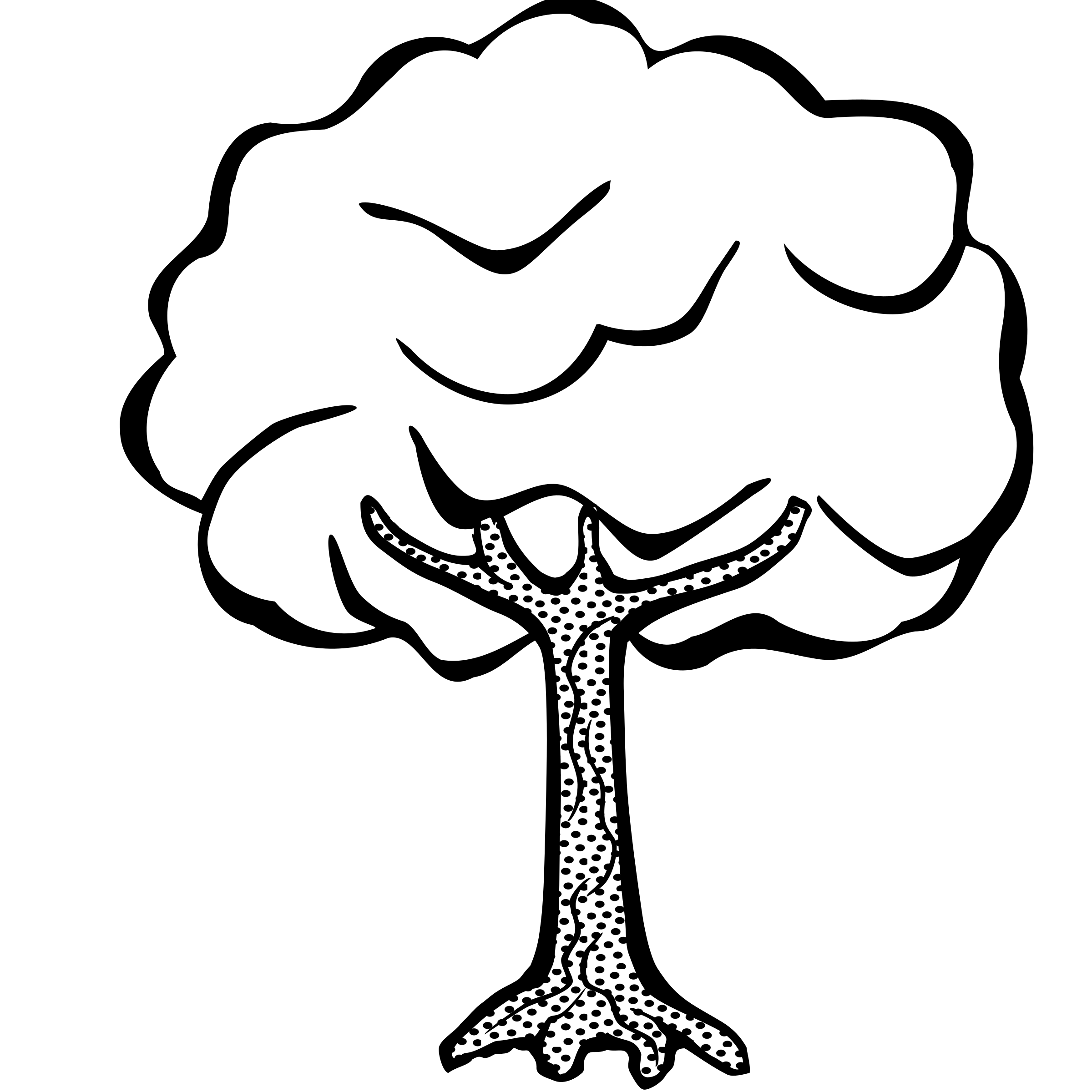 Download High Quality clipart tree black and white.