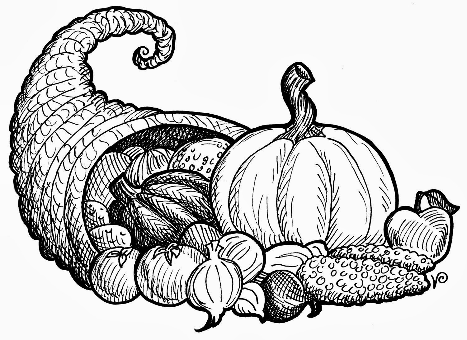 Free Thanksgiving Images Black And White, Download Free Clip.