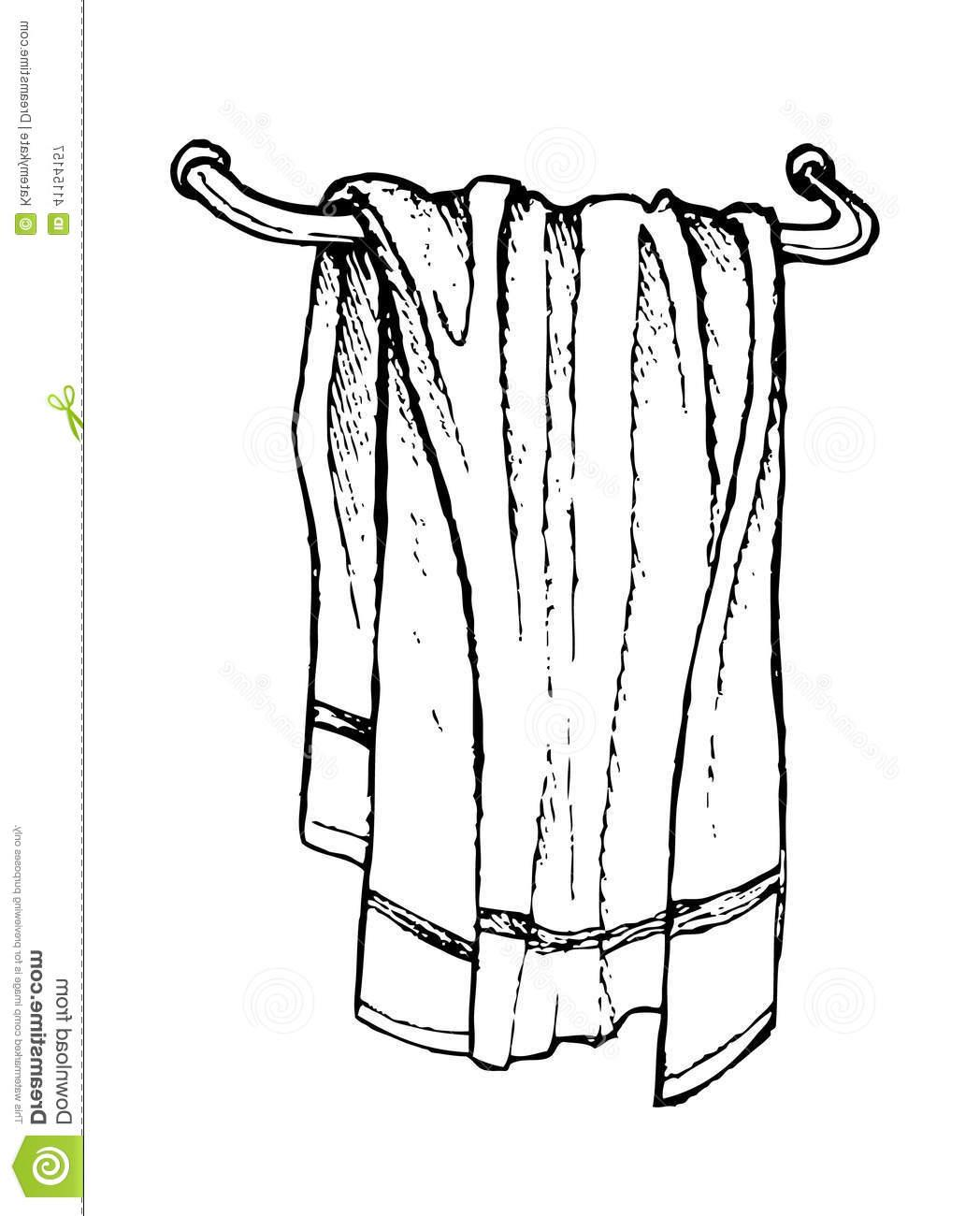 Towel clipart black and white 7 » Clipart Station.