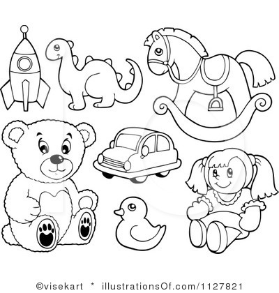 Toys Clipart Black And White.