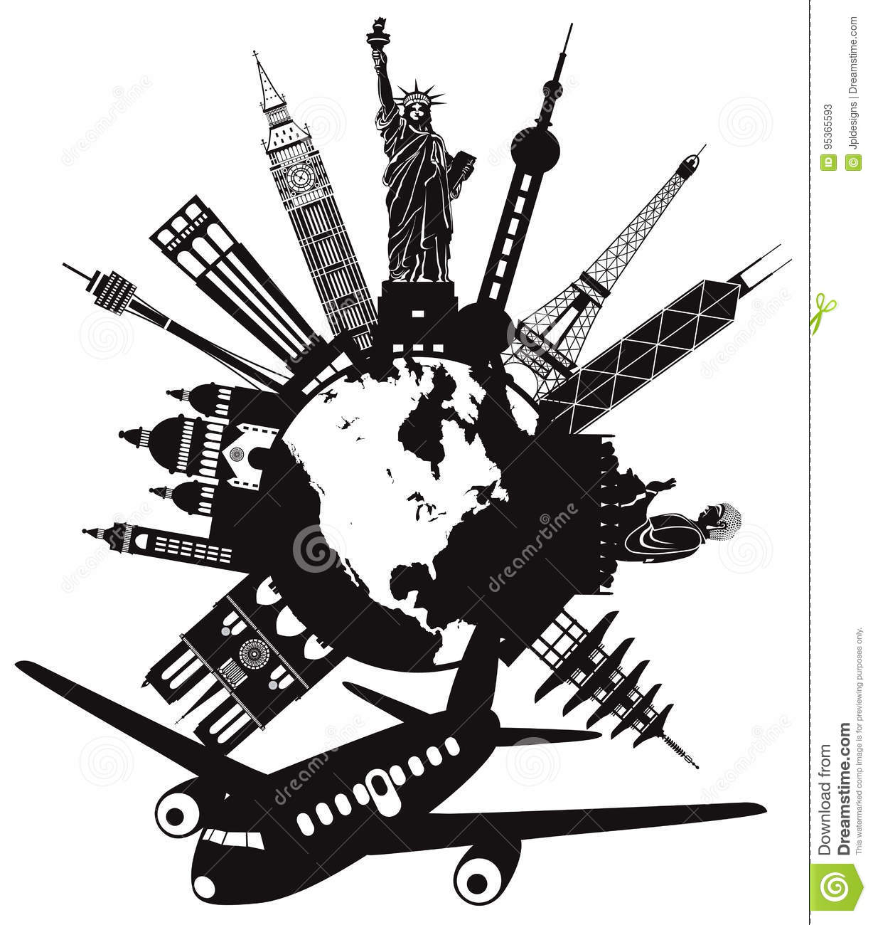 Travel clipart black and white 5 » Clipart Station.