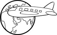 clip art travel outline.