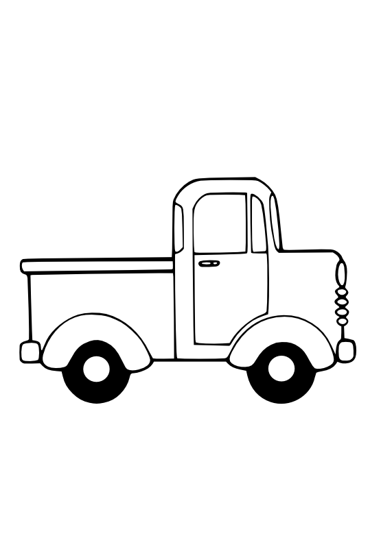 Truck Clip Art Black And White.