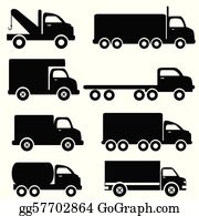 Black And White Truck Clip Art.