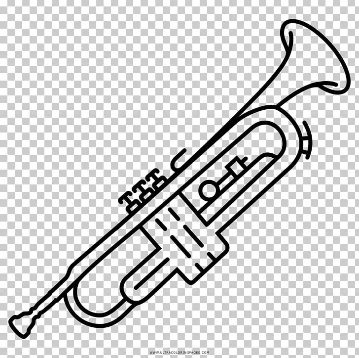 Trumpet Musical Instruments Drawing PNG, Clipart, Area, Bass.