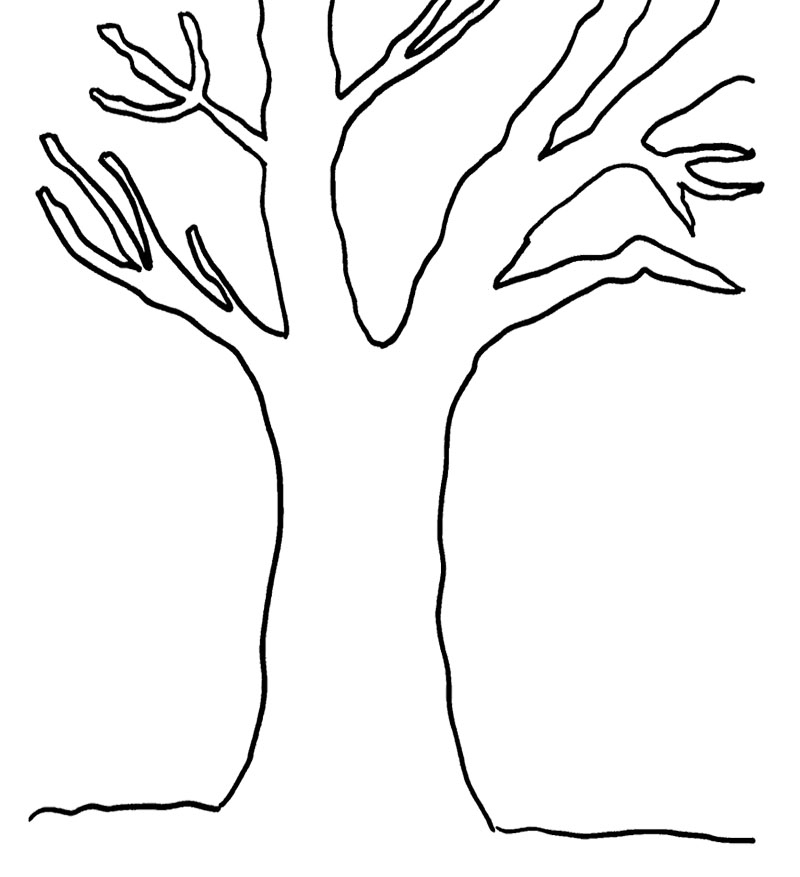 Trunk Of A Tree Clipart Black And White.