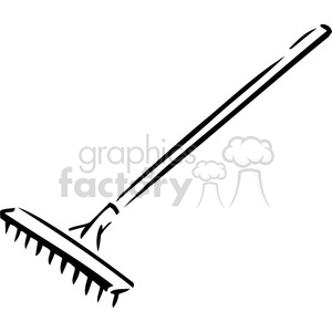 Rake clipart black and white Transparent pictures on F.