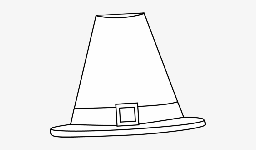 Pilgrim hat clipart black and white Transparent pictures on.