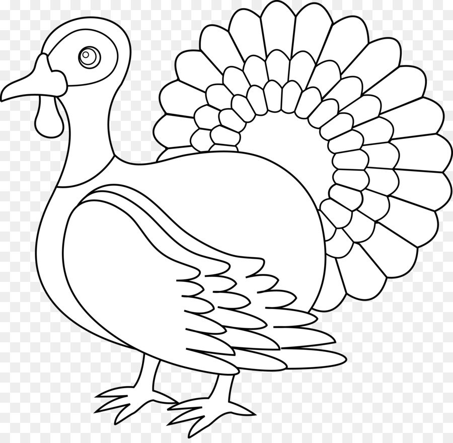 black and white clipart turkey #8