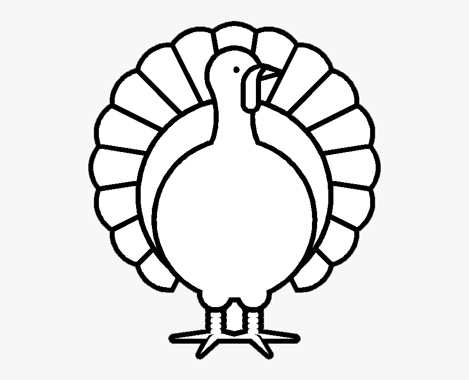 Turkey Clipart Black And White , Transparent Cartoon, Free.
