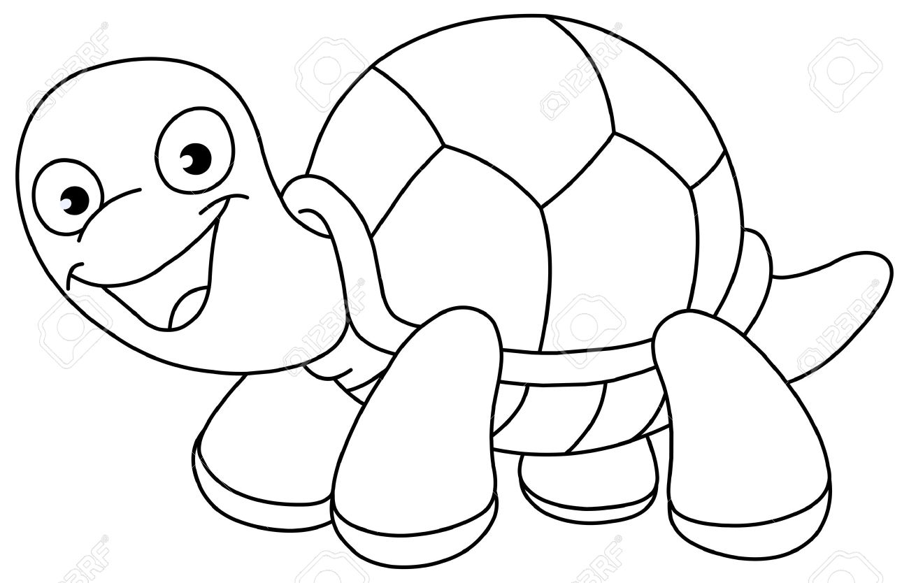 Best Turtle Clipart Black And White #12945.