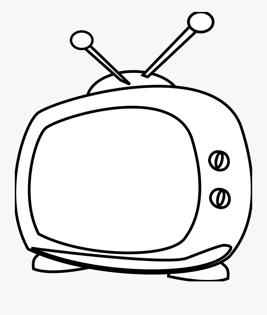 Watching Tv Clipart Black And White Free Clipart.