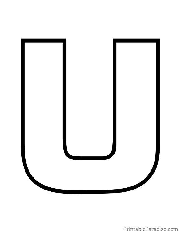 Letter U Clipart Black And White.