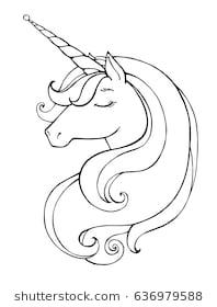 Unicorn clipart black and white 2 » Clipart Station.