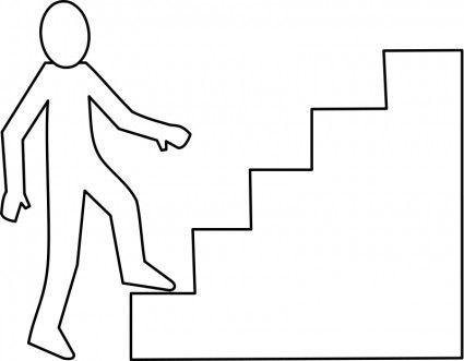 Stairs Clipart Black And White.