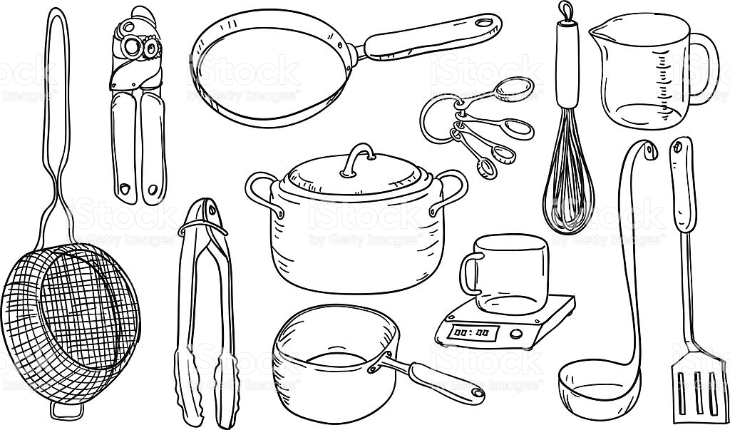 815 Kitchen Utensils free clipart.