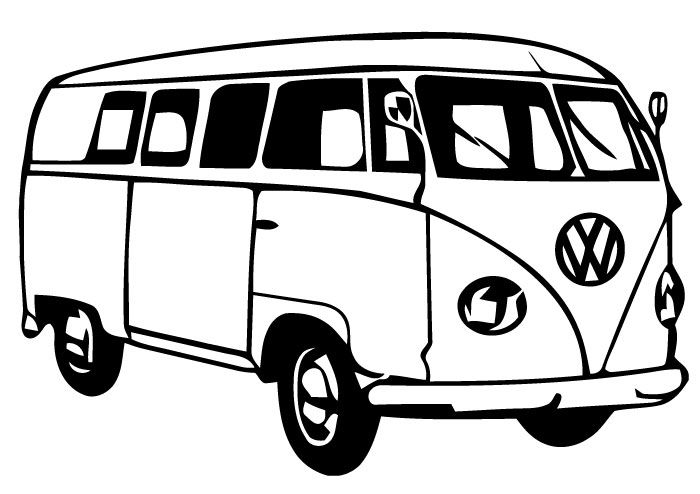 Van black and white clipart 3 » Clipart Station.
