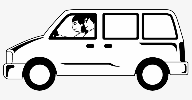 Black And White Clip Art Van.