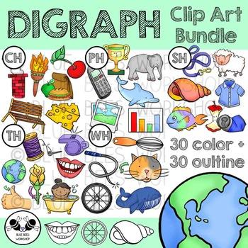Digraph Clip Art Bundle.