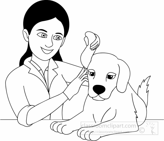 Veterinarian Clipart Black And White.