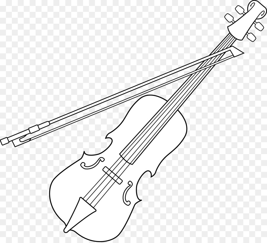 Violin black and white clipart 3 » Clipart Station.